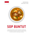 sop buntut national indonesian dish vector image
