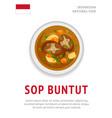 sop buntut national indonesian dish vector image vector image