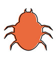 spider virus infection icon vector image vector image