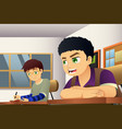 students in a classroom vector image