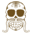 sugar skull one color vector image