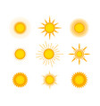 sun icon set design vector image