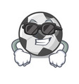 super cool soccer ball isolated with mascot vector image