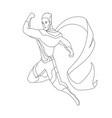 superhero for coloring book isolated comic book vector image vector image