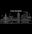 Tulsa silhouette skyline usa - tulsa city