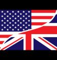 USA British flag vector image