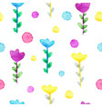 watercolor floral seamless pattern flower summer vector image