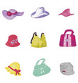 woman accessories set collection vector image
