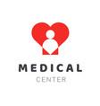 medical diagnostic center or clinic logo design vector image