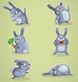 Crazy rabbits vector image