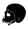 extreme skull with helmet vector image