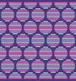 abstract seamless pattern of striped circles vector image