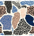 Abstract seamless pattern with animal print vector image vector image