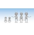 Alien Characters vector image vector image