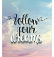 Background with realistic clouds and calligraphic vector image vector image