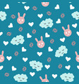 beautiful cute seamless pattern print with animal vector image vector image
