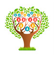 big family tree template with people icons vector image vector image