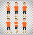 boys different emotions on transparent background vector image