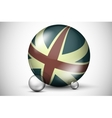 British flag on the ball field vector image vector image