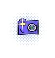 Camera comics icon vector image vector image