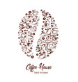 coffeehouse poster of coffee cups and bean vector image vector image