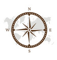 compass logo design vector image vector image