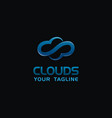 creative cloud logo concept design with blue color vector image