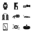 customize icons set simple style vector image vector image
