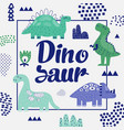 cute dinosaurs design childish background vector image