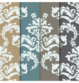damask pattern ornament set vector image vector image