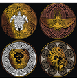 Ethnic Amulets vector image