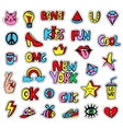 fashionable patch badges set isolated on white vector image vector image