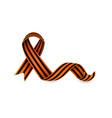 flat george ribbon victory day icon vector image vector image