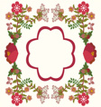 flower frame background vintage vector image vector image