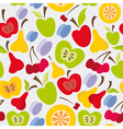 food pattern vector image