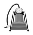 foot pump for car single icon in monochrome style vector image vector image