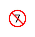 forbidden 7 age icon can be used for web logo vector image vector image
