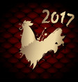 Golden chinese new year rooster for 2017