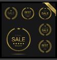 golden wreath icons vector image vector image
