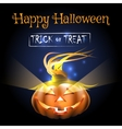 Happy Halloween Poster with Pumpkin vector image
