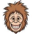happy monkey head vector image vector image