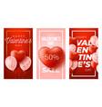 happy valentines day social media vertical vector image