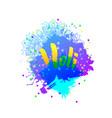 holi holiday logo emblem vector image vector image