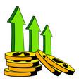 increase cash income icon cartoon vector image