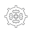 Isolated gear machine part design vector image vector image