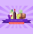lets have a drink poster vector image vector image