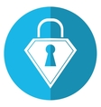lock shield protection security technology shadow vector image