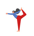 lord dance yoga pose flat style vector image