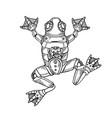 mechanical frog animal engraving vector image vector image
