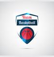 modern logo for a basketball team vector image vector image